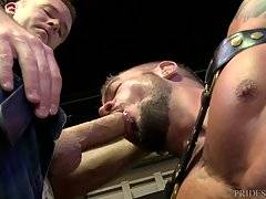Dolf commands him at every point from how he needs his cock sucked to licking his balls the right way and how this hungry bottom wants a proper fuck.
