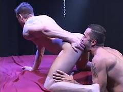 Top Lito Cruz slams it to Drew`s pucker. First a tongue, then a cock, a fist, a baseball bat and, later, a load of cum.