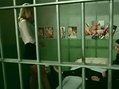 Amazing blonde is skillfully tempting cute tough prisoner.